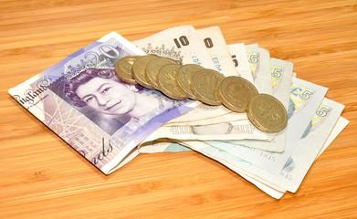 English Bank Notes And Coins
