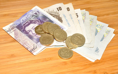 English Bank Notes And Coins