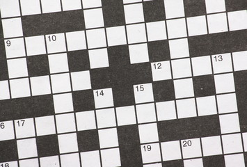 Blank Newspaper Crossword Puzzle