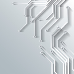 Abstract integrated circuit. Business background.