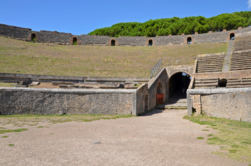 Interior of the Pompeian Amphitheatre