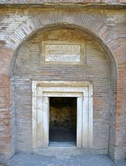 Entrance to the ancient patrician tomb