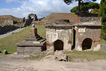 Two ancient tombs in Pompeii