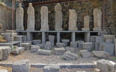 Remains of ancient sculptures
