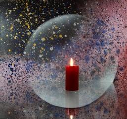 Stilleben mit Kerze