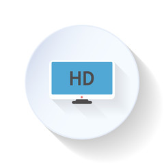 HD movie flat icon