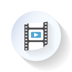 Film frame flat icon