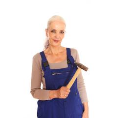 Heimwerkerin mit Hammer