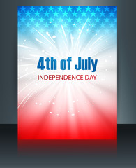 Beautiful brochure 4th july american independence day template v