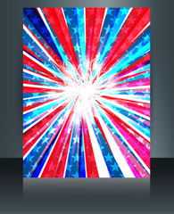 Vector Template Brochure for 4th of july independence day design