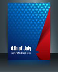 Beautiful American Flag template 4th of july brochure reflection