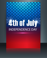 American flag independence day brochure template card vector