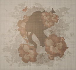 Grunge Floral Woman