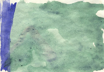 green watercolor background abstraction