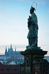 Prague - Statue of St. John of Nepomuk
