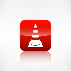 warning road cones icon