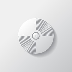 Music vinyl disk icon,flat design