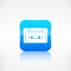 Compact Cassette icon, flat design, hipster style