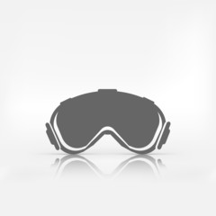 Ski goggles. Vector illustration