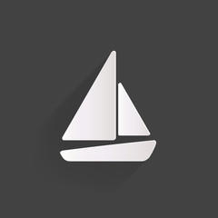 Sailboat, ship icon.