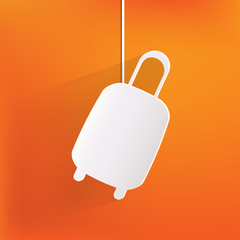 Traveling bag icon.