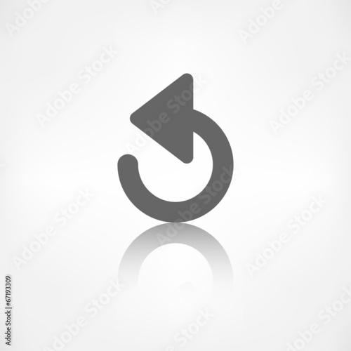 Undo icon, back arrow symbol