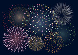 Fototapety Background with fireworks