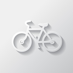 Hipster retro bicycle icon