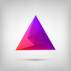 Abstract polygonal geometric background with web icons. Triangle
