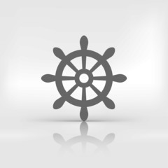 Wheel web icon.