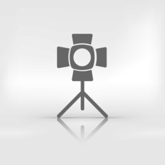 spotlight icon. light for photocamera