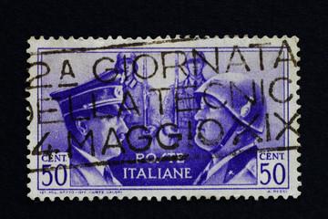 Briefmarke Italien Hitler & Mussolini
