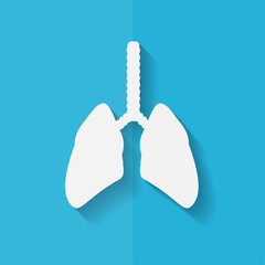 Human lung icon. Medical background. Health care