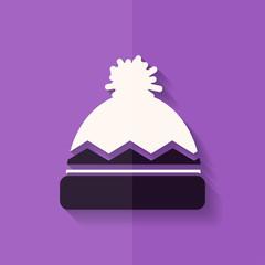 Winter snowboard cap icon