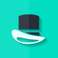 Cylinder hat icon