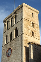 Belfry of Ibiza Cathedral, Spain