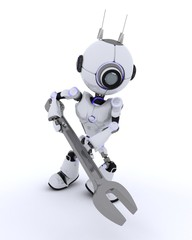 Robot with spanner
