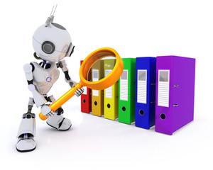 Robot searching files
