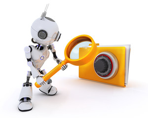 Robot searching files