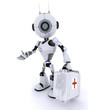 Robot paramedic with first aid kit