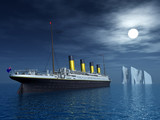 Titanic and Iceberg - 67195513