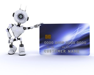 Robot with credit card