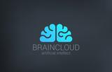 Brain Cloud Creative shape silhouette vector logo design - 67195726