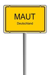 Schild Maut Deutschland