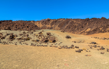 The deserted side of the Teide volcano in Tenerife