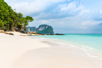 beach in Tropical sea at Bamboo Island Krabi Province