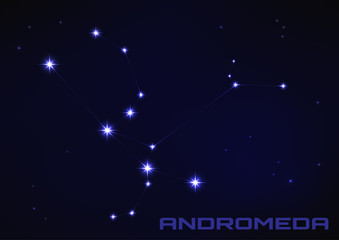 Andromeda star constellation