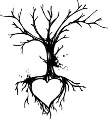 Love tree ink