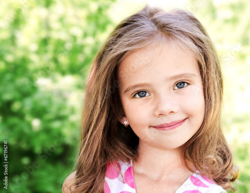 canvas print picture Portrait of adorable smiling little girl