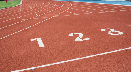 Athletics field and number